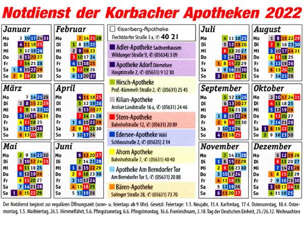 Apotheken-Notdienstkalender