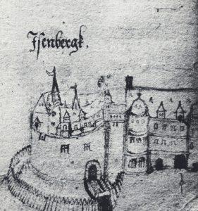 Burg Eisenberg Zeichnung von Johannes Berthold 1586