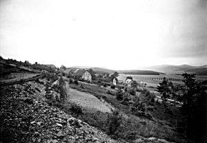 Chronik Blick Richtung Westen ins Dorf