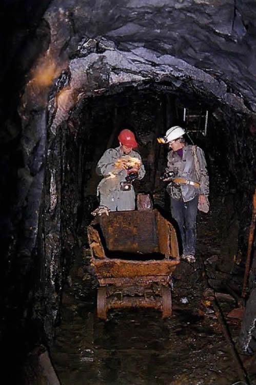 Um 1930 eingesetzte Bergbaulore, sogenannter Hunt