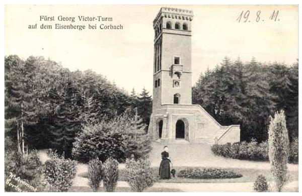 Postkarte Georg Victor Turm 1911
