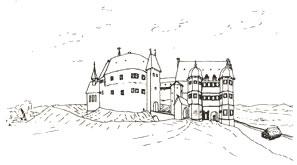 Skizze des Grafenschlosses