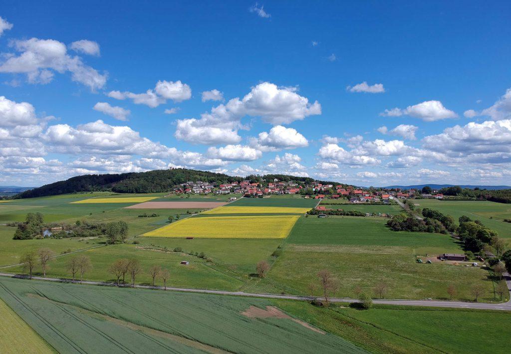 Blick vom Eichholz auf Goldhausen