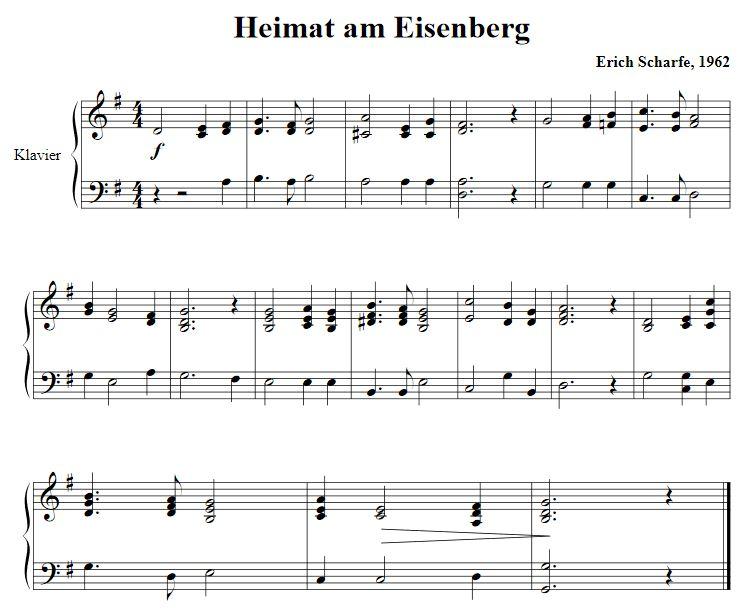 Noten Eisenberger Lied (Heimat am Eisenberg)