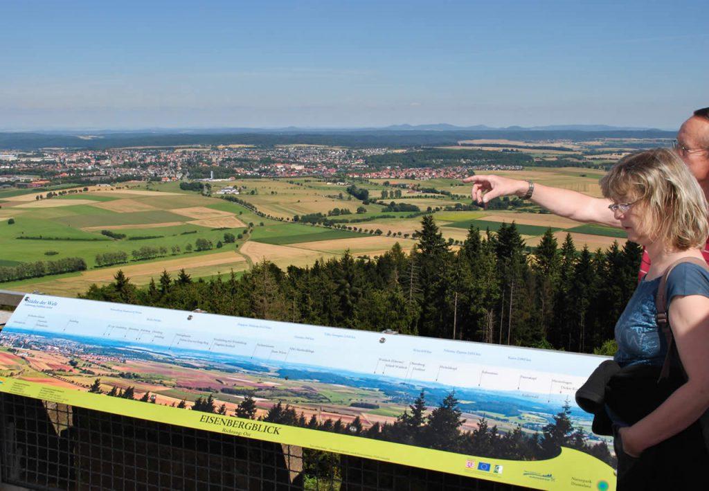 Georg Viktor Turm mit Panoramatafeln