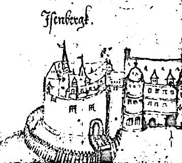 Schloss Eisenberg Grenzkarte von Berthold 1586