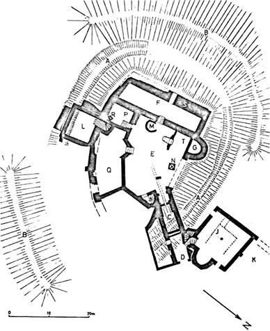 Schloss Eisenberg Grundriss Ausgrabungsstand 1977