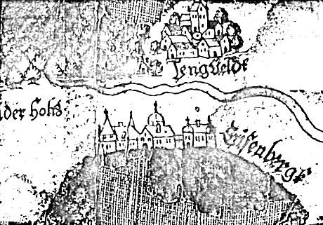 Schloss Eisenberg Landkarte von Moers 1572