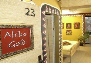 Ein Zimmer im Goldflair-Hotel